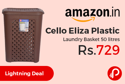 Cello Eliza Plastic Laundry Basket 50 litres