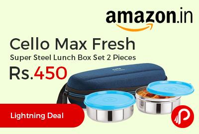 Cello Max Fresh Super Steel Lunch Box Set 2 Pieces
