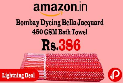 Bombay Dyeing Bella Jacquard 450 GSM Bath Towel