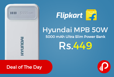 Hyundai MPB 50W 5000 mAh Ultra Slim Power Bank