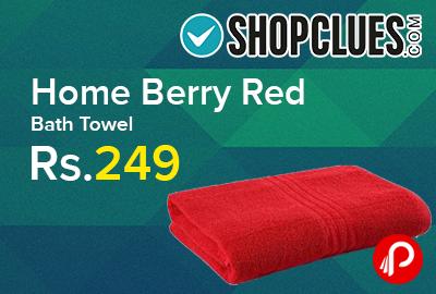 Home Berry Red Bath Towel