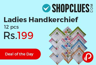 Ladies Handkerchief 12 pcs
