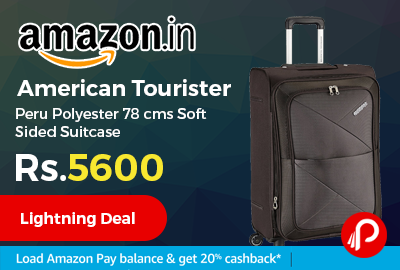 American Tourister Peru Polyester 78 cms Soft Sided Suitcase