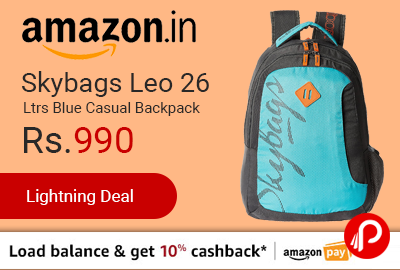 Skybags Leo 26 Ltrs Blue Casual Backpack