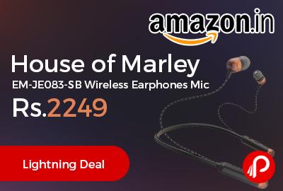 House of Marley EM-JE083-SB Wireless Earphones Mic