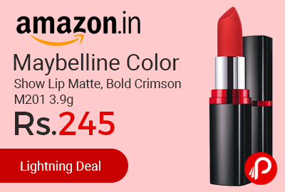 Maybelline Color Show Lip Matte, Bold Crimson M201 3.9g