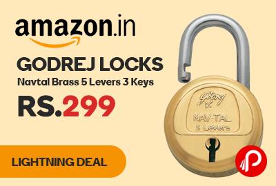 Godrej Locks Navtal Brass 5 Levers 3 Keys
