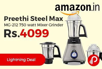 Preethi Steel Max MG-212 750 watt Mixer Grinder