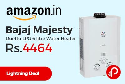 Bajaj Majesty Duetto LPG 6 litre Water Heater