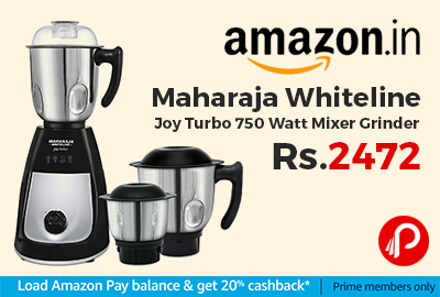 Maharaja Whiteline Joy Turbo 750 Watt Mixer Grinder