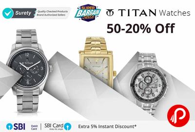 Titan Watches 50-20% off