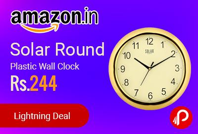 Solar Round Plastic Wall Clock