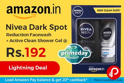 Nivea Dark Spot Reduction Facewash + Active Clean Shower Gel