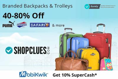 Branded Backpacks and Trolleys Bags