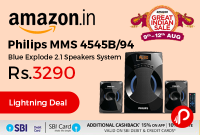 Philips MMS 4545B 2.1 Channel Speakers System