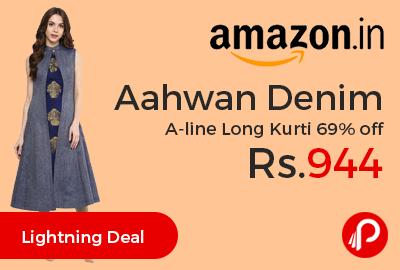 Aahwan Denim A-line Long Kurti