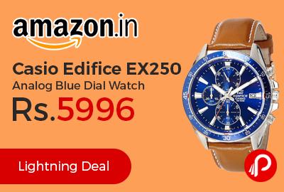 Casio Edifice EX250 Analog Blue Dial Watch
