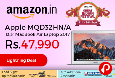 """Apple MQD32HN/A 13.3"""" MacBook Air Laptop 2017"""