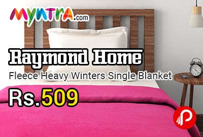 Raymond Home Fleece Heavy Winters Single Blanket