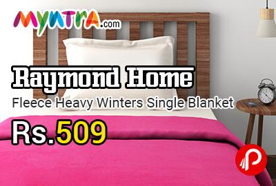 Raymond Home Fleece Heavy Winters Single Blanket