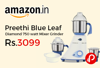 Preethi Blue Leaf Diamond 750 watt Mixer Grinder