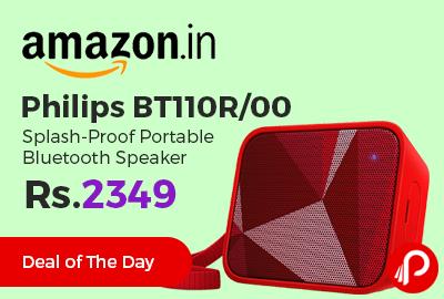 Philips BT110R/00 Splash-Proof Portable Bluetooth Speaker