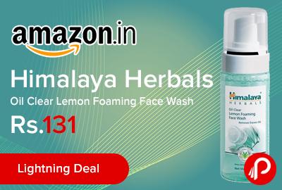 Himalaya Herbals Oil Clear Lemon Foaming Face Wash