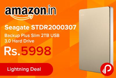 Seagate STDR2000307 Backup Plus Slim 2TB USB 3.0 Hard Drive