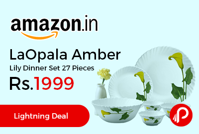LaOpala Amber Lily Dinner Set 27 Pieces