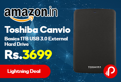 Toshiba Canvio Basics 1TB USB 3.0 External Hard Drive