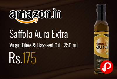 Saffola Aura Extra Virgin Olive & Flaxseed Oil 250 ml