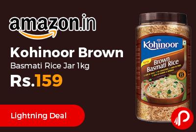 Kohinoor Brown Basmati Rice Jar 1kg