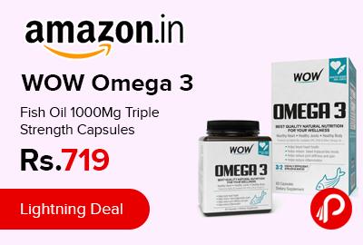 WOW Omega 3 Fish Oil 1000Mg Triple Strength Capsules