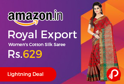 Royal Export Women's Cotton Silk Saree