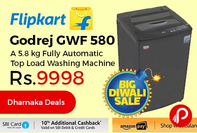 Godrej GWF 580 A 5.8 kg Fully Automatic Top Load Washing Machine