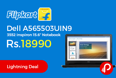 """Dell A565503UIN9 3552 Inspiron 15.6"""" Notebook"""