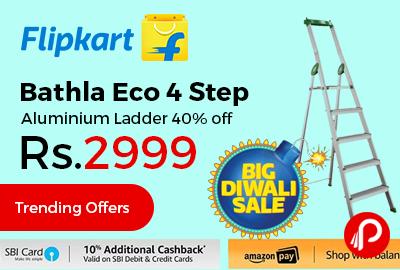 Bathla Eco 4 Step Aluminium Ladder
