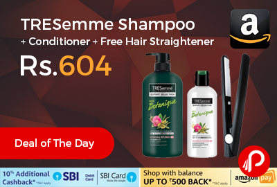 TRESemme Shampoo + Conditioner + Free Hair Straightener