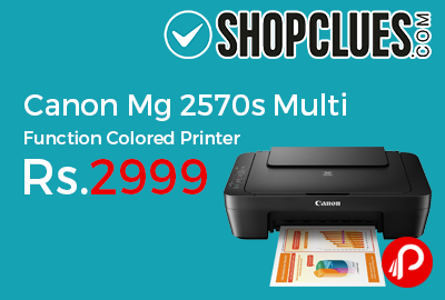 Canon Mg 2570s Multi Function Colored Printer