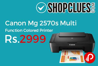 Canon Mg 2570s Multi Function Colored Printer
