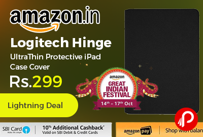 Logitech Hinge UltraThin Protective iPad Case Cover