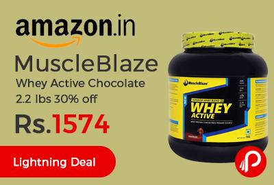MuscleBlaze Whey Active Chocolate 2.2 lbs