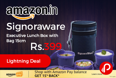 Signoraware Executive Lunch Box with Bag 15cm
