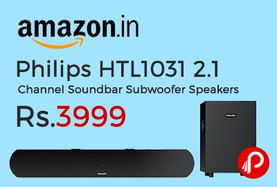 Philips HTL1031 2.1 Channel Soundbar Subwoofer Speakers
