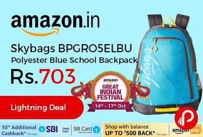 Skybags BPGRO5ELBU Polyester Blue School Backpack