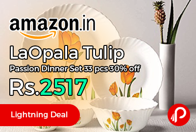 LaOpala Tulip Passion Dinner Set 33 pcs