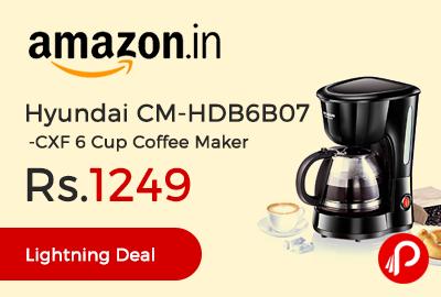 Hyundai CM-HDB6B07-CXF 6 Cup Coffee Maker