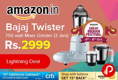 Bajaj Twister 750 watt Mixer Grinder
