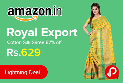 Royal Export Cotton Silk Saree