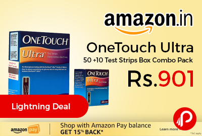 OneTouch Ultra, 50 +10 Test Strips Box Combo Pack